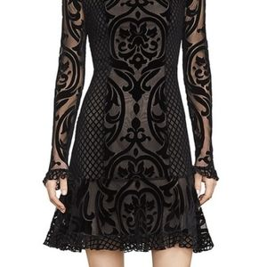 BCBG velvet lace dress